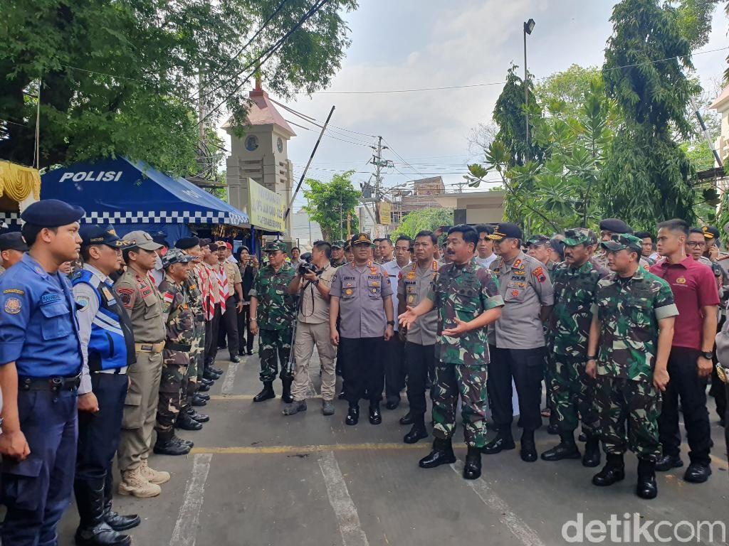 Panglima TNI dan Kapolri Cek Pengamanan Katedral Semarang Jelang Natal