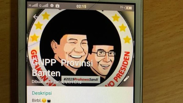 Grup WhatsApp relawan Prabowo (dok. putusan)