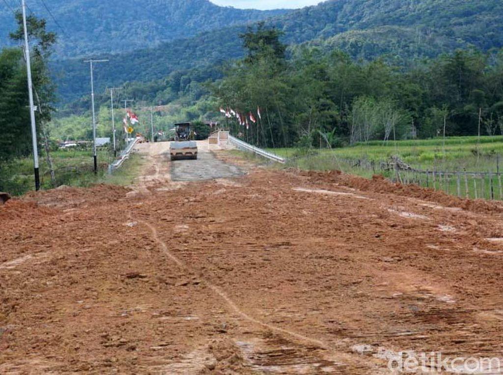Senangnya Warga Nunukan, Perbatasan RI-Malaysia Dibangun Jalan