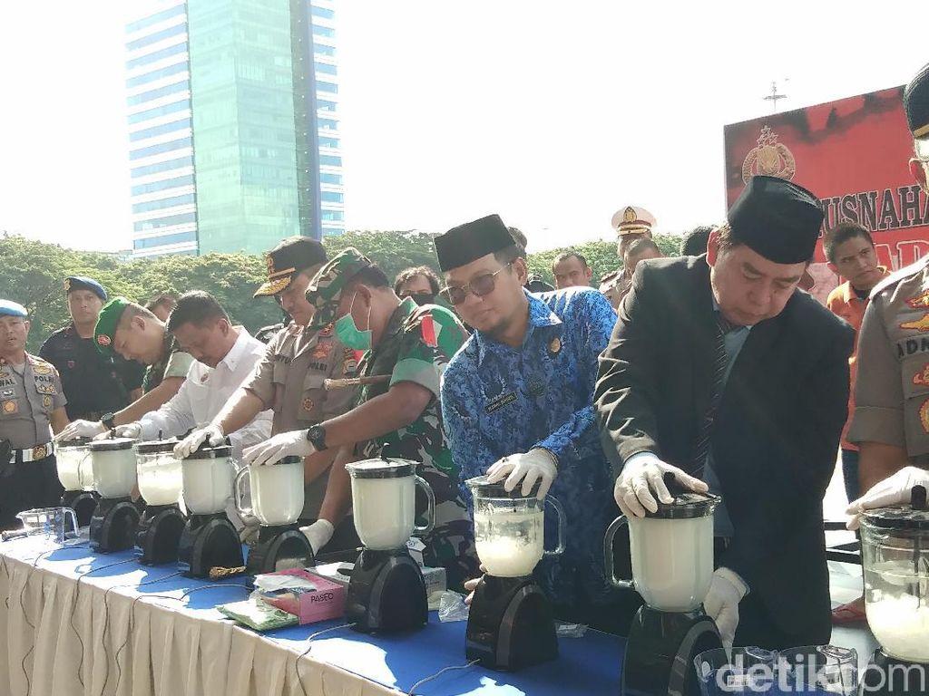 Polisi Blender 6,3 Kilogram Sabu di Makassar
