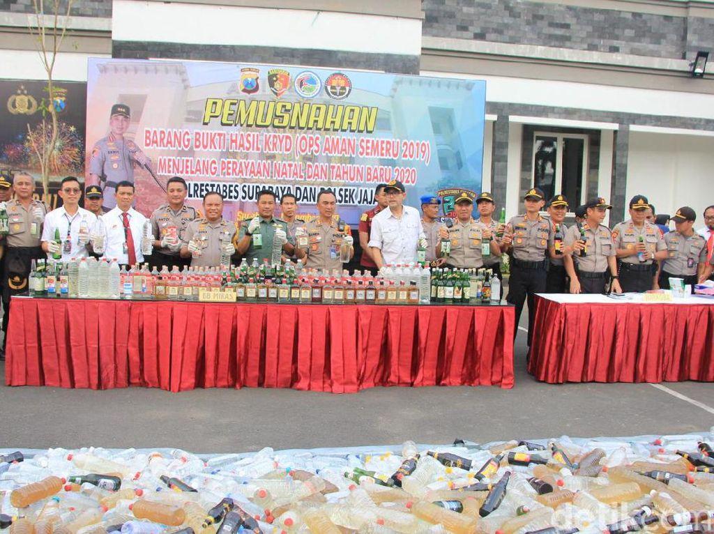 Polisi Pastikan Natal dan Tahun Baru di Surabaya Tanpa Miras dan Narkoba