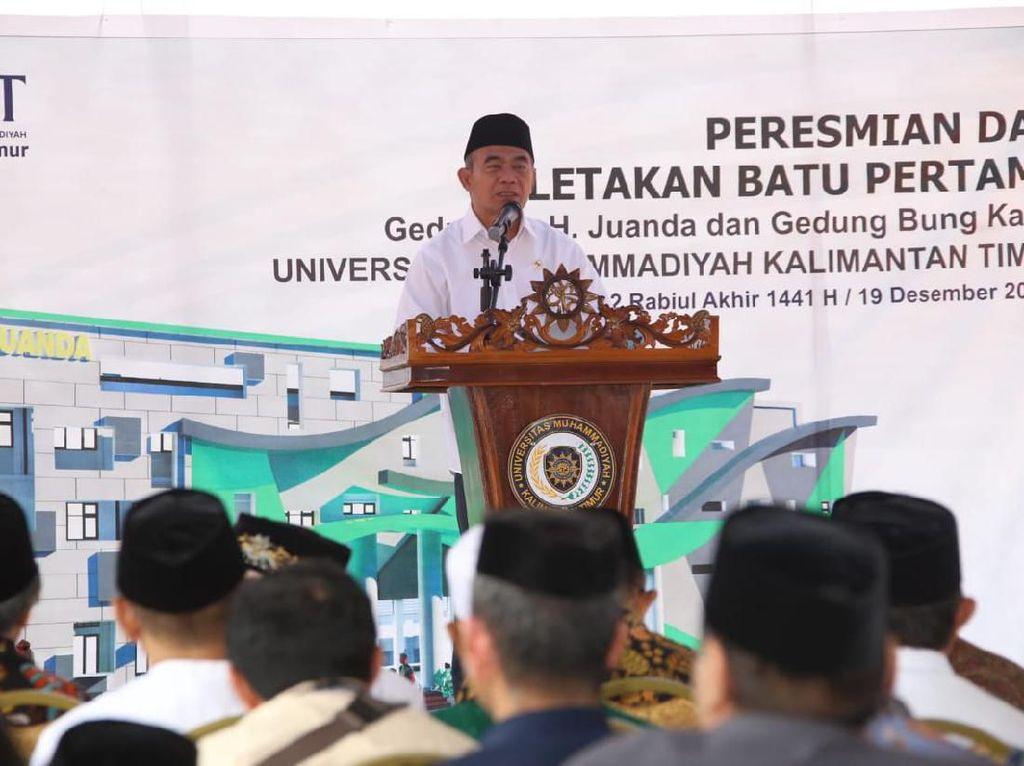 Resmikan Gedung Baru UMKT, Menko PMK Muhadjir Bicara Indonesia-sentris