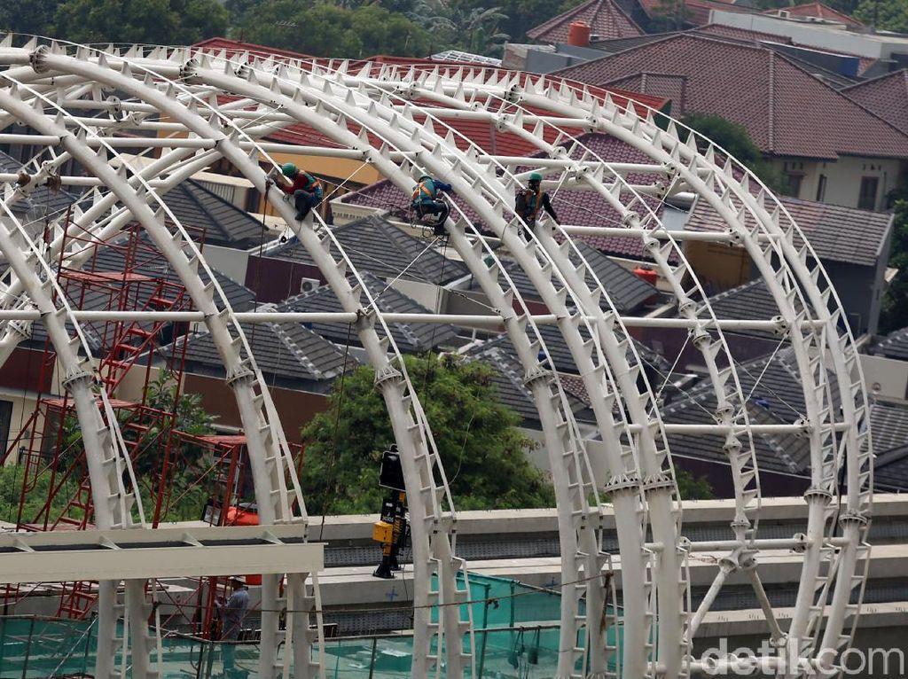 Kejar Tayang, Pembangunan Stasiun LRT Jatibening Dikebut