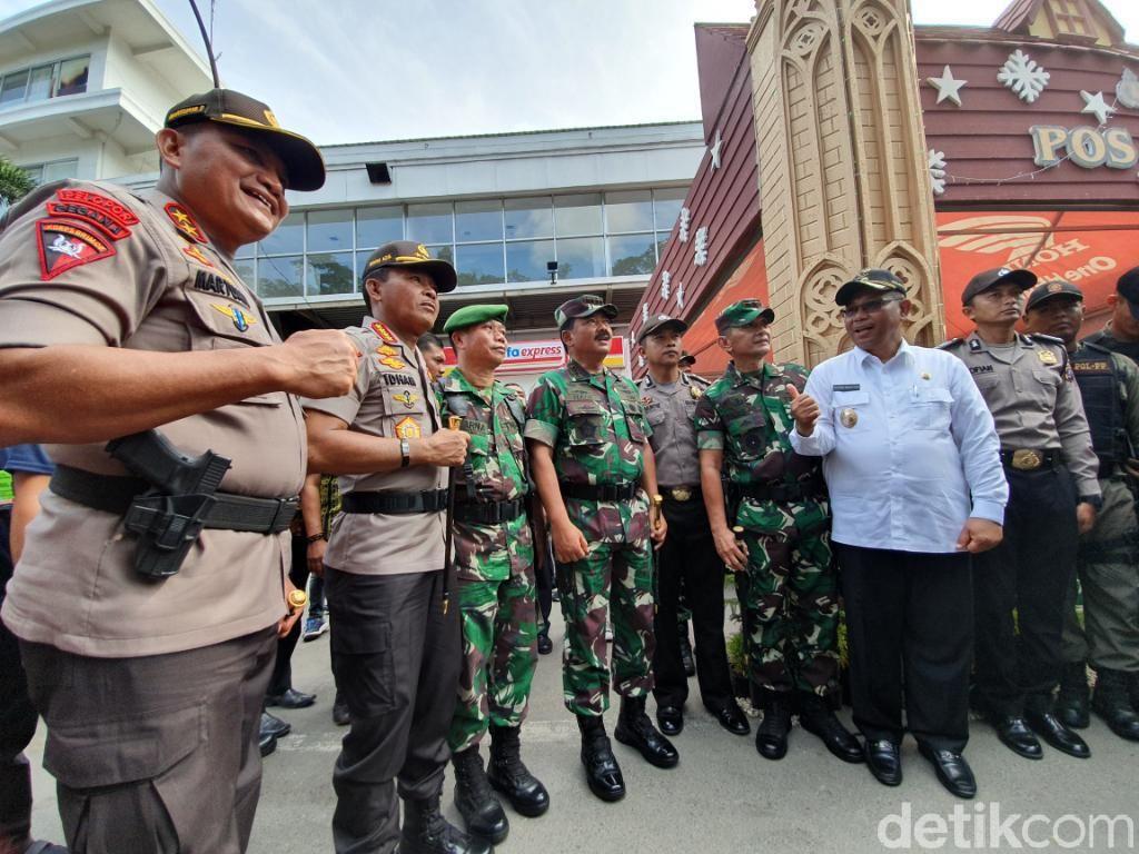 Kapolri dan Panglima Cek Pengamanan Natal-Tahun Baru di Medan
