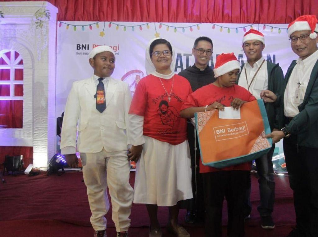 BNI Lipatgandakan Kasih Natal Digelar Timor Tengah Utara