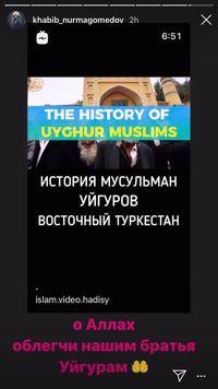 Khabib Nurmagomedov Ikut Doakan Muslim Uighur