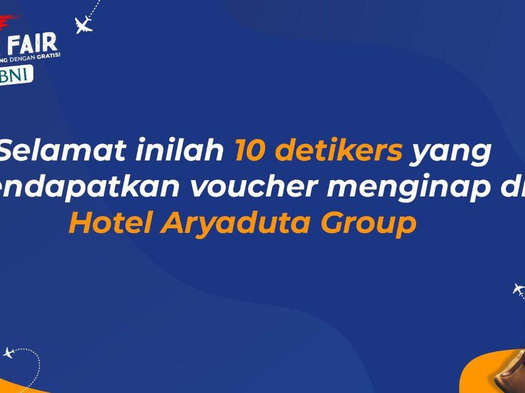 Ini Dia 10 Pemenang Voucher Hotel Aryaduta
