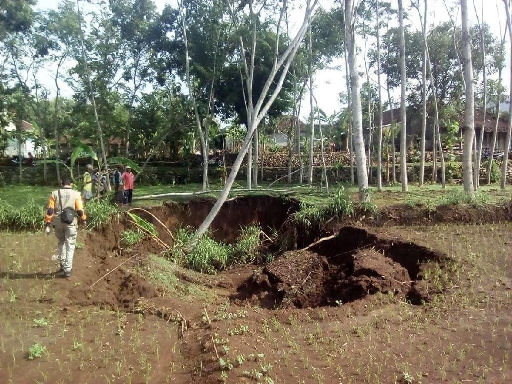Fenomena Tanah Amblas Wonogiri, Diduga Ada Sungai di Bawahnya