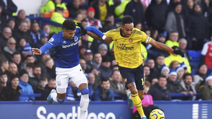 Everton vs Arsenal tuntas tanpa gol (Anthony Devlin/PA via AP)