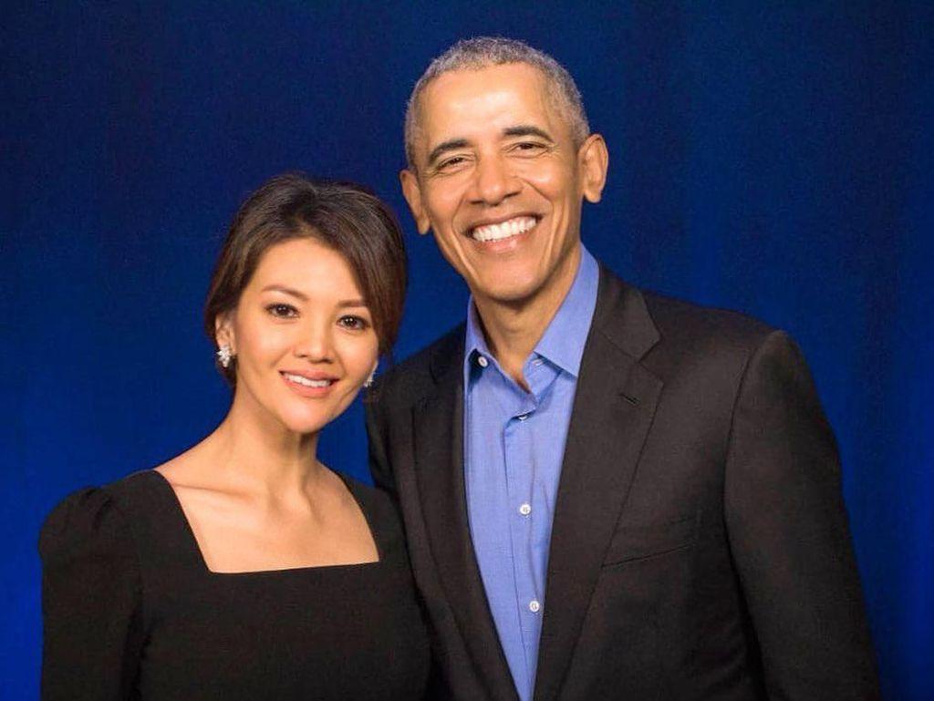 Asyik Ngobrol, Farah Quinn dan Barack Obama Terhalang Paspampres