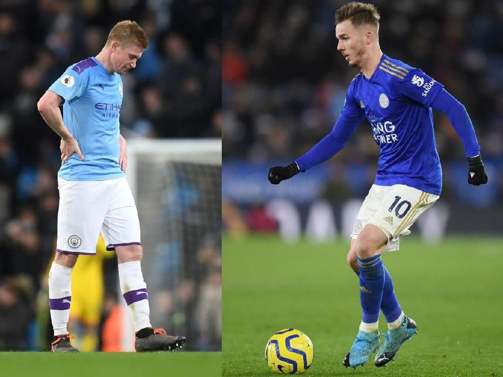 Man City Vs Leicester City: Adu Kreatif De Bruyne dengan Maddison