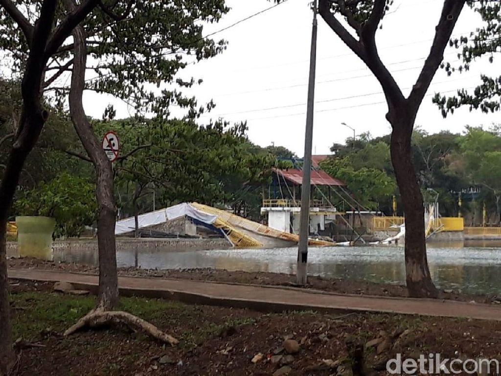 Dinas Bina Marga Bantu PPK Kemayoran Investigasi Penyebab Jembatan Ambruk