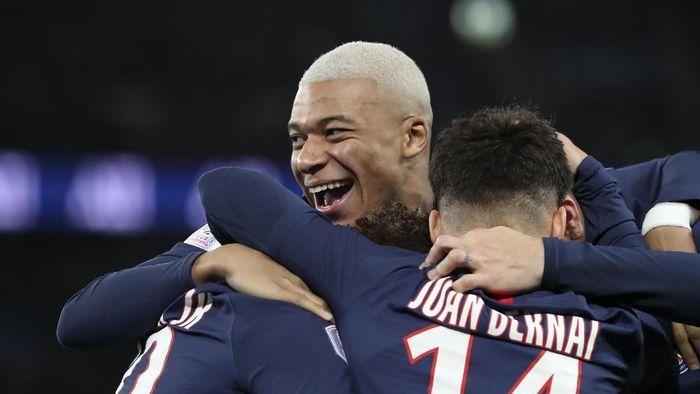 Kylian Mbappe nyaris bikin gol cantik ke gawang St Etienne (AP Photo/Thibault Camus)