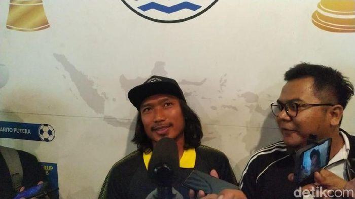Hariono ketika pamitan dari Persib Bandung. (Mukhlis Dinillah/detikSport)