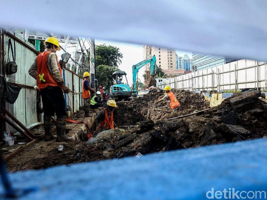 Proyek Underpass Senen Extension Terus Dikebut