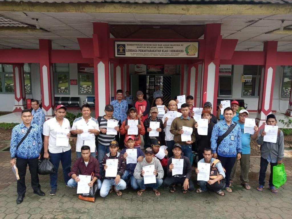 Crash Program, 23 Napi di Lapas Semarang Bebas Bersyarat
