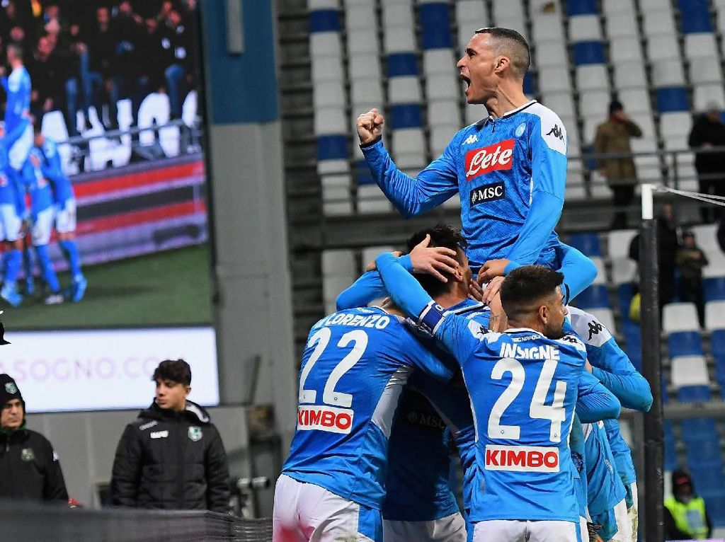 Hasil Liga Italia: Napoli Akhirnya Menang
