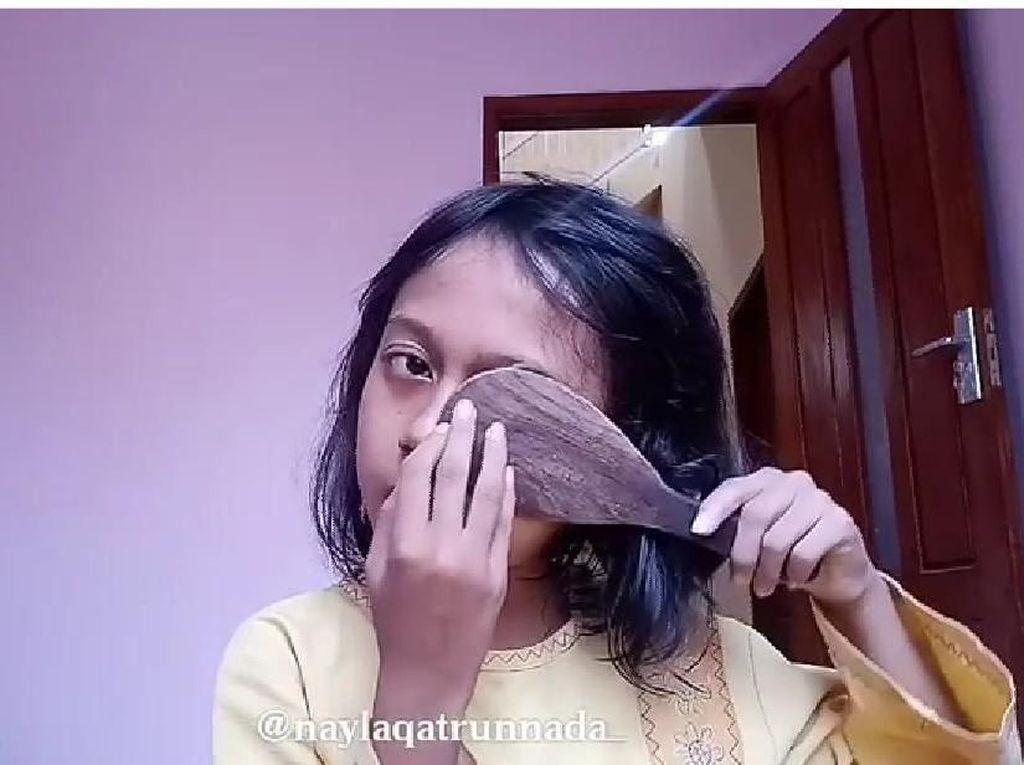 Jago Make Up Pakai Sendok, Garpu dan Centong, Aksi Bocah Ini Bikin Ngakak