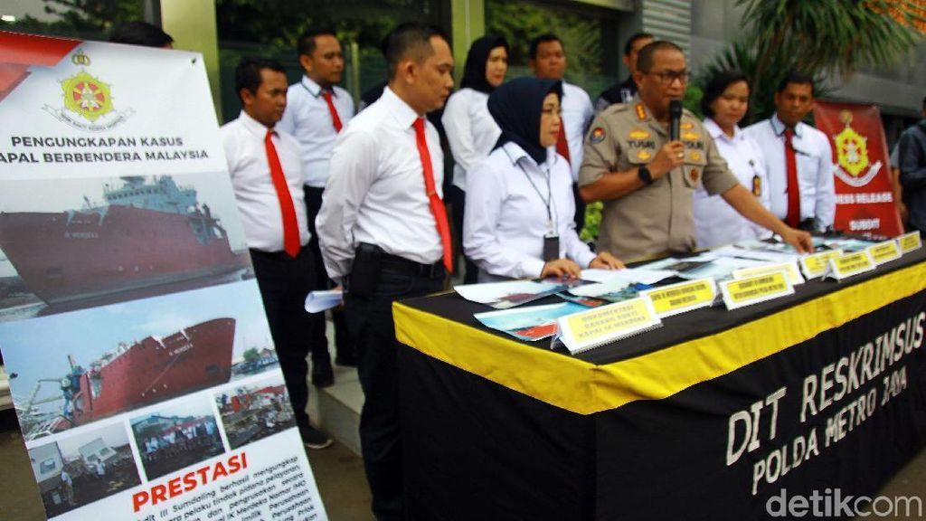 Polda Metro Jaya Ungkap Kasus Pencurian Kapal IK Merdeka