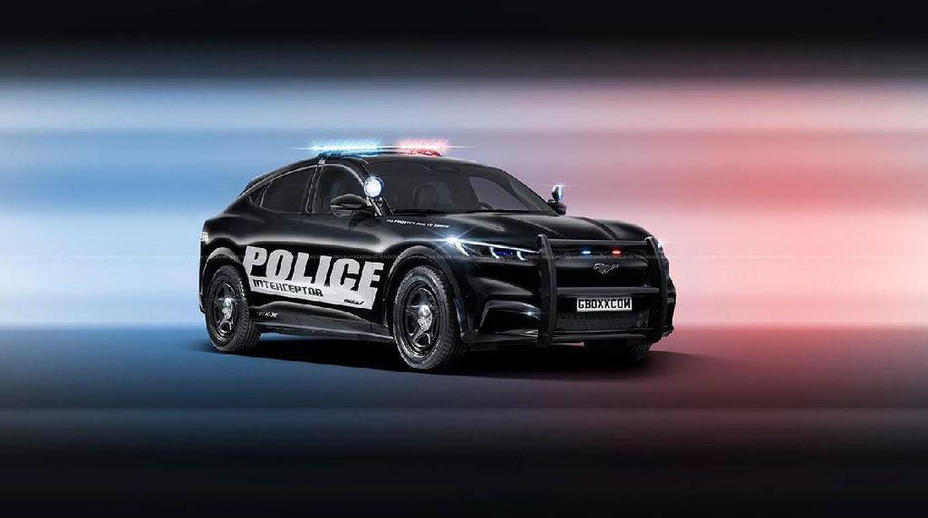 Mobil Listrik Ford Mustang Berseragam Polisi