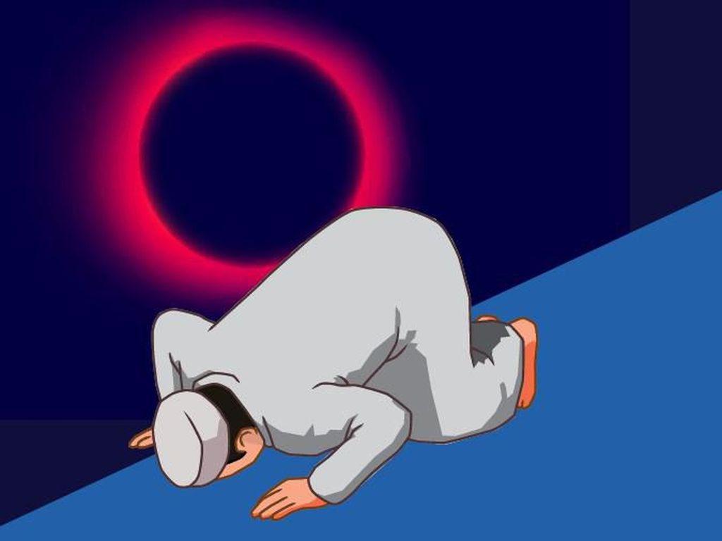 Pesan Rasulullah SAW Saat Khutbah Sholat Gerhana Matahari