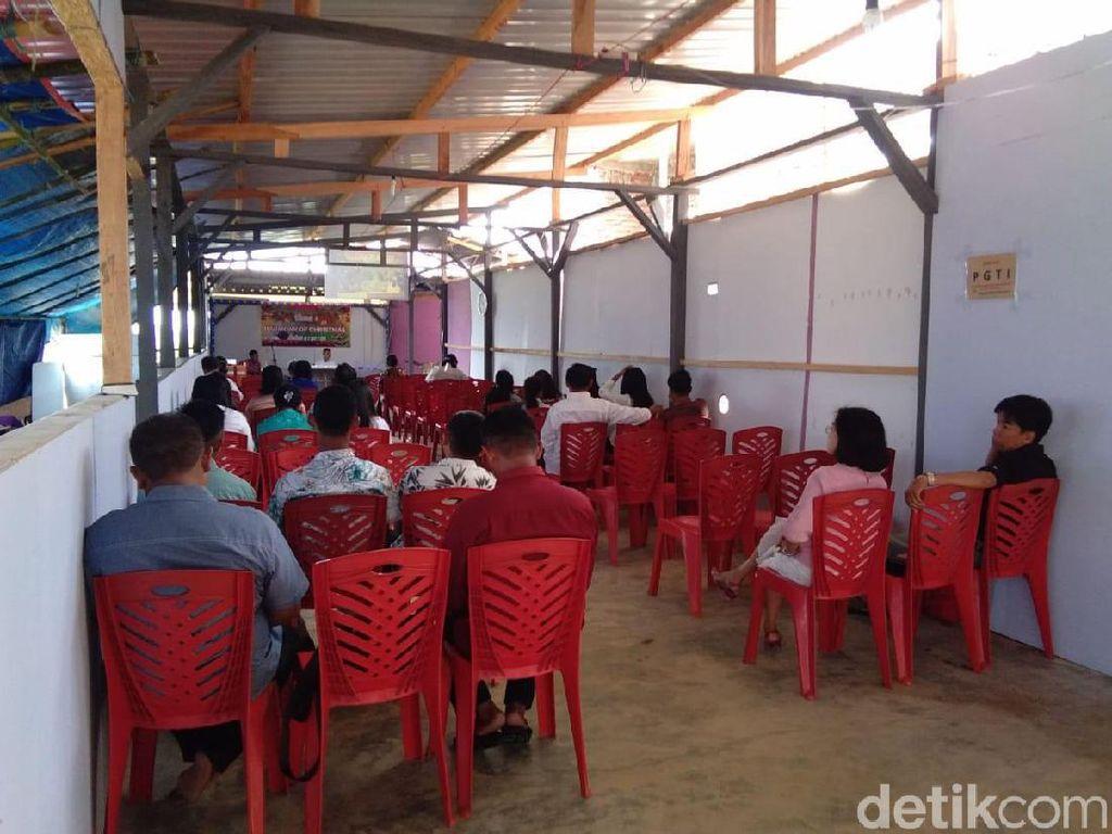 Diguncang Gempa, Jemaat di Sigi Berhamburan Keluar Gereja