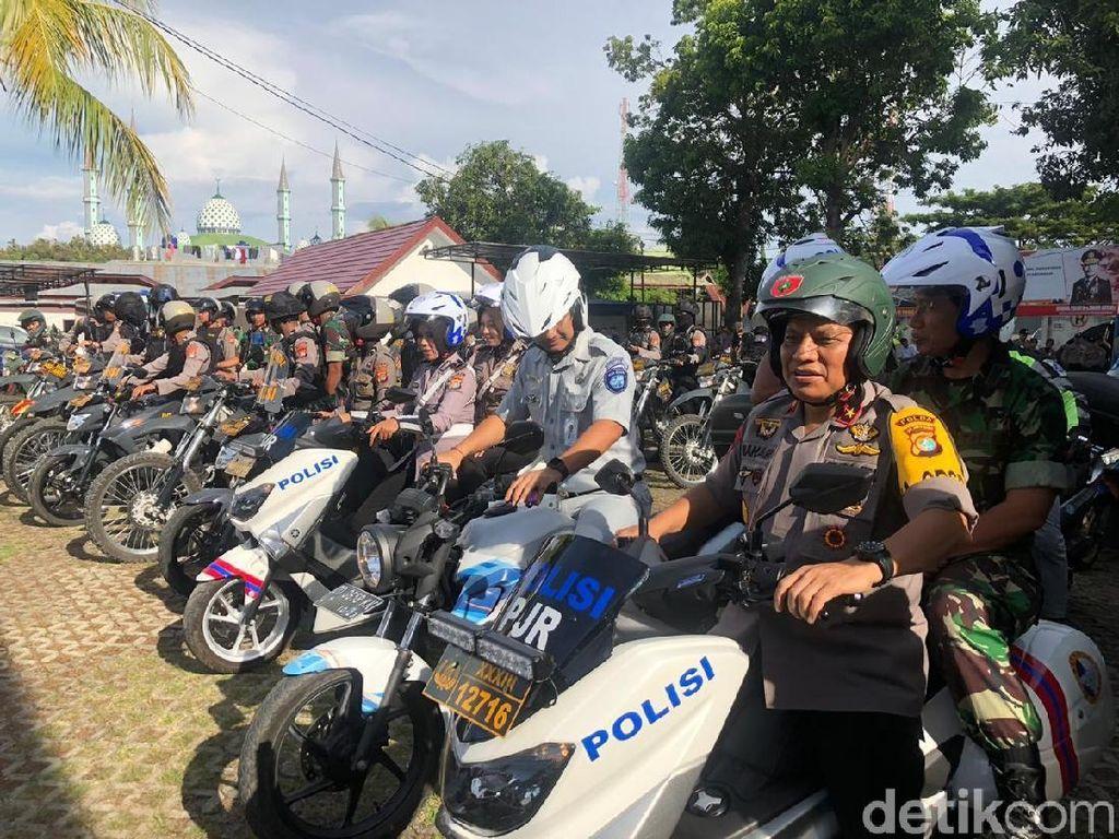 Pastikan Keamanan Natal, Kapolda Sulbar Patroli Naik Motor