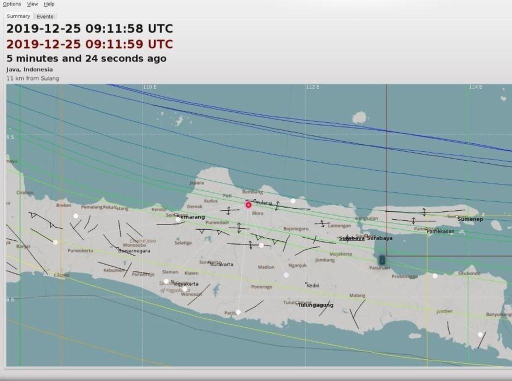 Gempa Darat M 3,6 di Blora, Warga: Rumah Terasa Hoyak