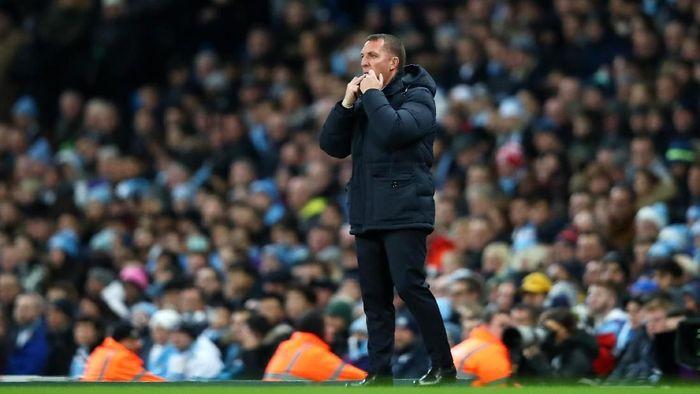 Manajer Leicester City Brendan Rodgers diyakini akan habis-habisan untuk mengalahkan Liverpool.  (Clive Brunskill/Getty Images)
