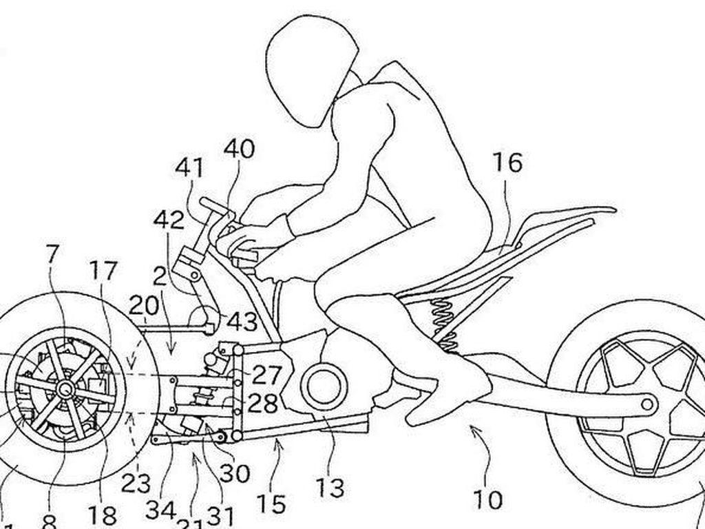 Tantang Yamaha, Kawasaki Bakal Bikin Motor Tiga Roda