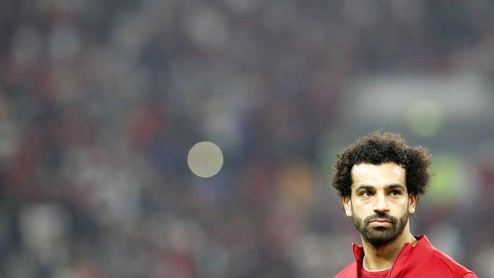Mohamed Salah ikut meriahkan natal bersama keluarganya (Hassan Ammar/AP Photo)