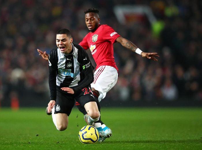 Manchester United unggul 3-1 atas Newcastle United di babak pertama berkelahi boxing day Liga Inggris. (Foto: Clive Brunskill/Getty Images)