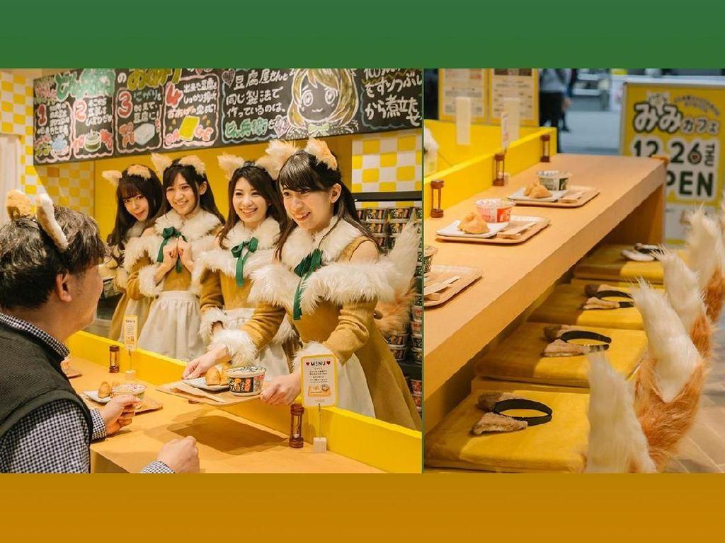 Liburan ke Jepang, Bisa Makan Mie Instan Ditemani Gadis Rubah yang Cantik