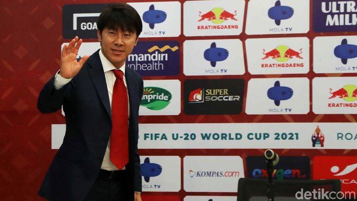 Shin Tae-yong mengantarkan timnas Korsel U-23 lolos ke perempatfinal Olimpiade 2019.  (Pradita Utama/detikSport)