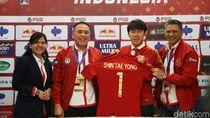 Momen PSSI Perkenalkan Shin Tae-yong Jadi Pelatih Timnas