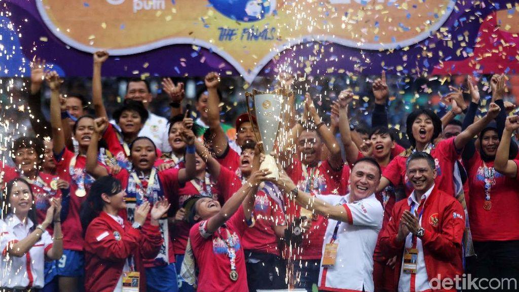 Cetak Sejarah, Persib Bandung Putri Berpesta di Pakansari