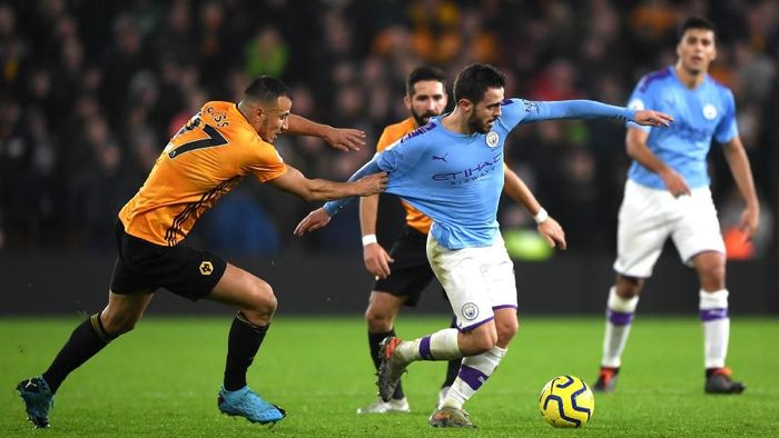 Manchester City takluk 2-3 di markas Wolverhampton Wanderers. (Foto: Shaun Botterill/Getty Images)