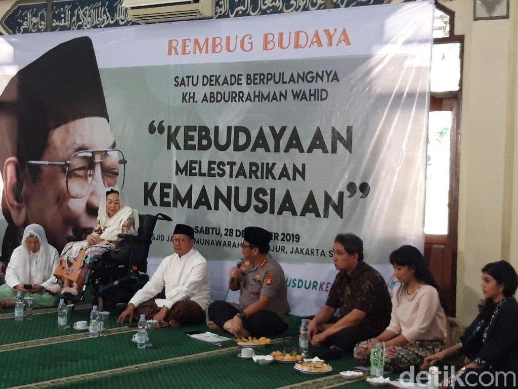 Kenang 10 Tahun Gus Dur, Sinta Nuriyah Bicara Pentingnya Majukan Kebudayaan