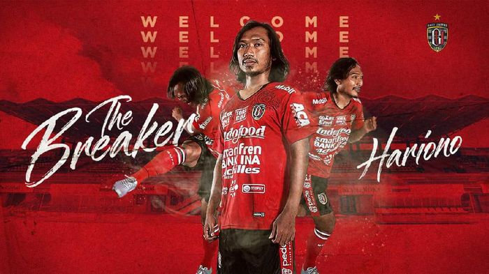 Hariono gabung Bali United. Foto: Twitter @BaliUtd