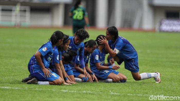Persib Bandung juara Liga 1 2019 Putri. (Pradita Utama/detikSport)