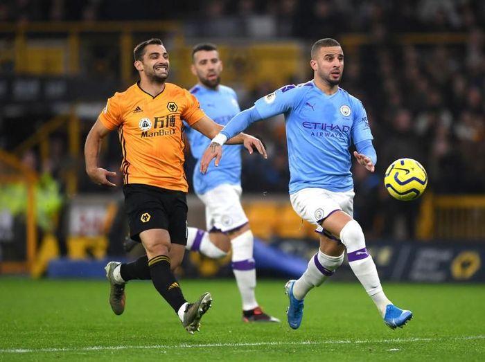 Manchester City unggul 1-0 atas Wolverhampton Wanderers di babak pertama berkelahi boxing day Liga Inggris. (Foto: Shaun Botterill/Getty Images)