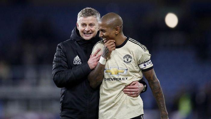Manchester United menang 2-0 atas Burnley dalam lanjutan Liga Inggris (Foto: Martin Rickett/PA)via AP