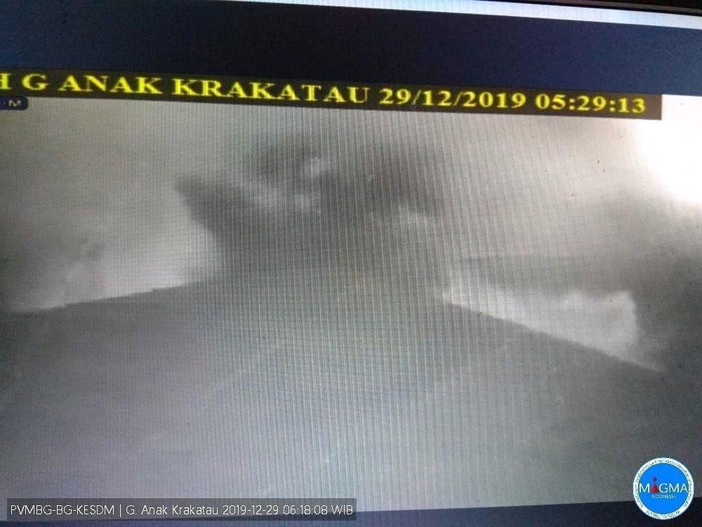 Gunung Anak Krakatau Erupsi Pagi Tadi, Status Waspada