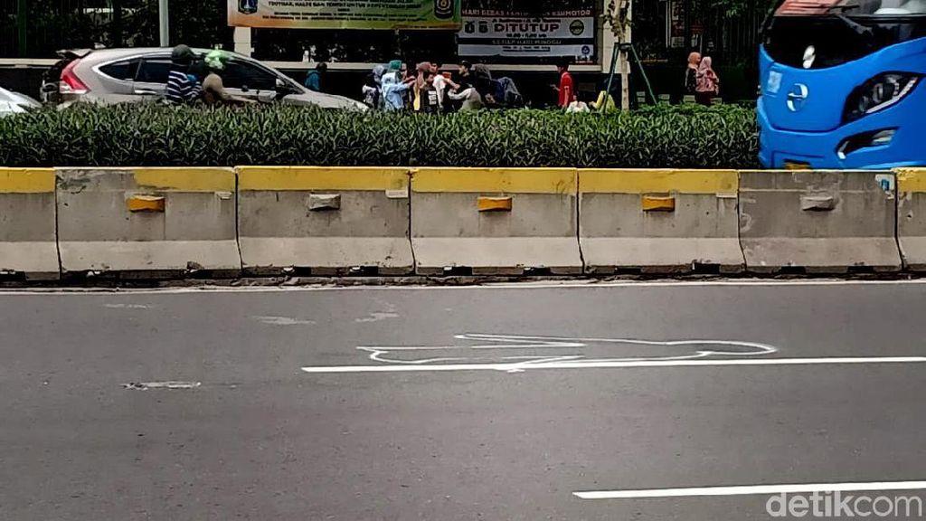 Melihat Lebih Dekat TKP 7 Pesepeda yang Ditabrak di Sudirman