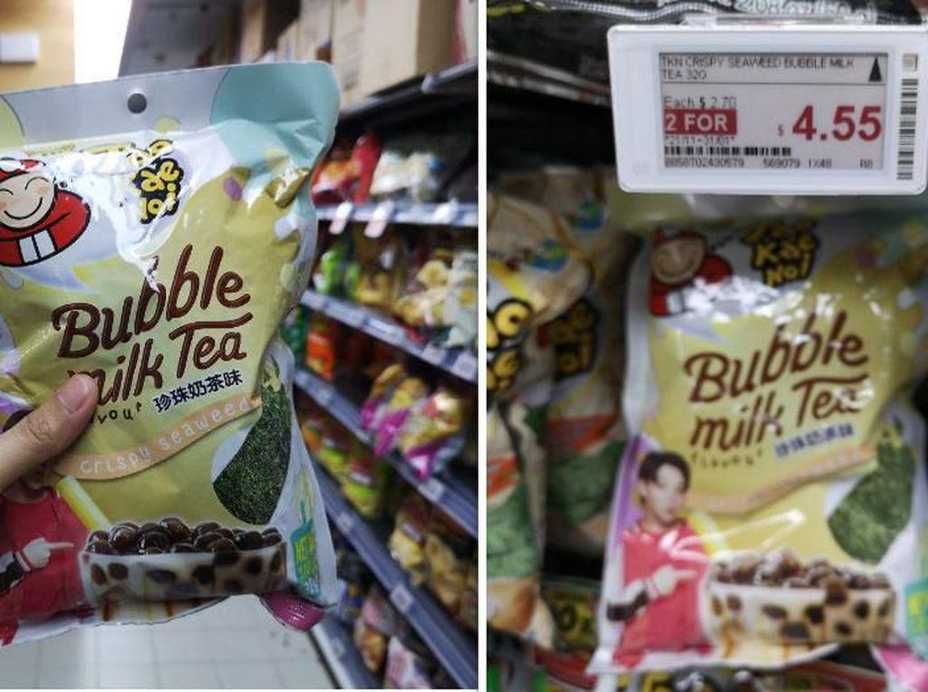 Kriuk! Setelah Milk Tea Kini Ada Keripik Rumput Laut Rasa Bubble Tea