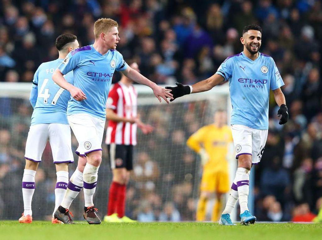Gol Kontroversial Warnai Kemenangan Manchester City atas Sheffield United
