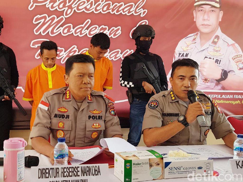 Jelang Tahun Baru, Polda Kepri Gagalkan Peredaran Sabu 19 Kg dari Malaysia