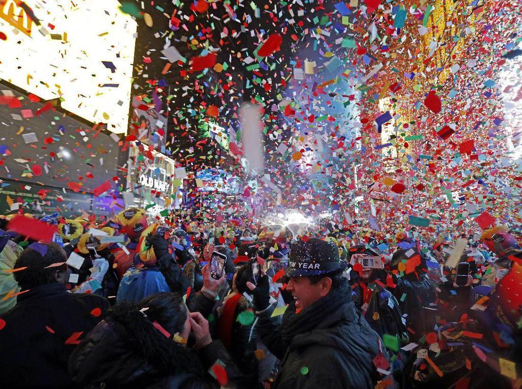 Malam Tahun Baru, Polisi AS Harap Times Square Jadi Tempat Teraman di Bumi