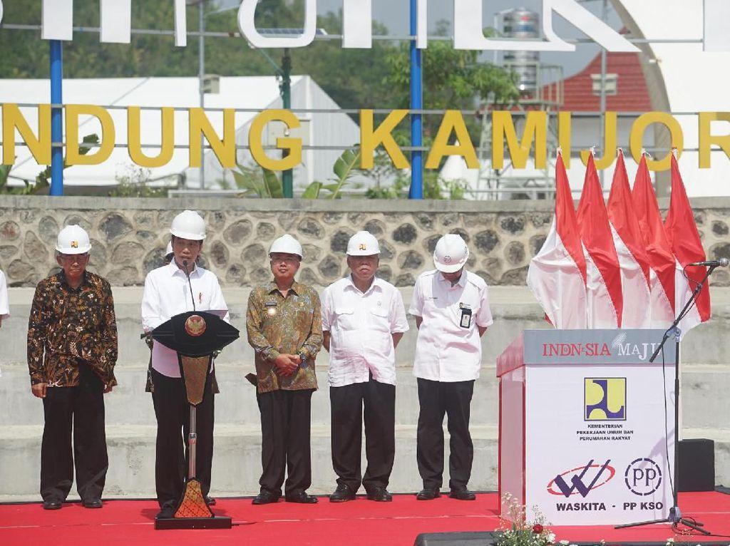 Wanti-wanti Pemda Jaga Bendung Kamijoro, Jokowi: Terus Rawat!