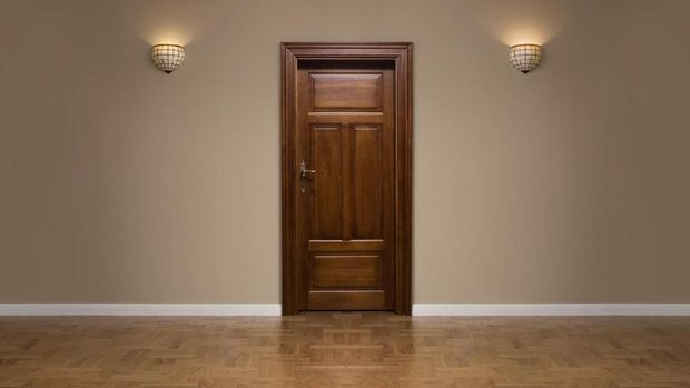 Ilustrasi pintu rumah